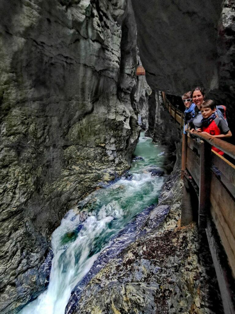 Die Liechtensteinklamm Wanderung ist sehr beeindruckend!