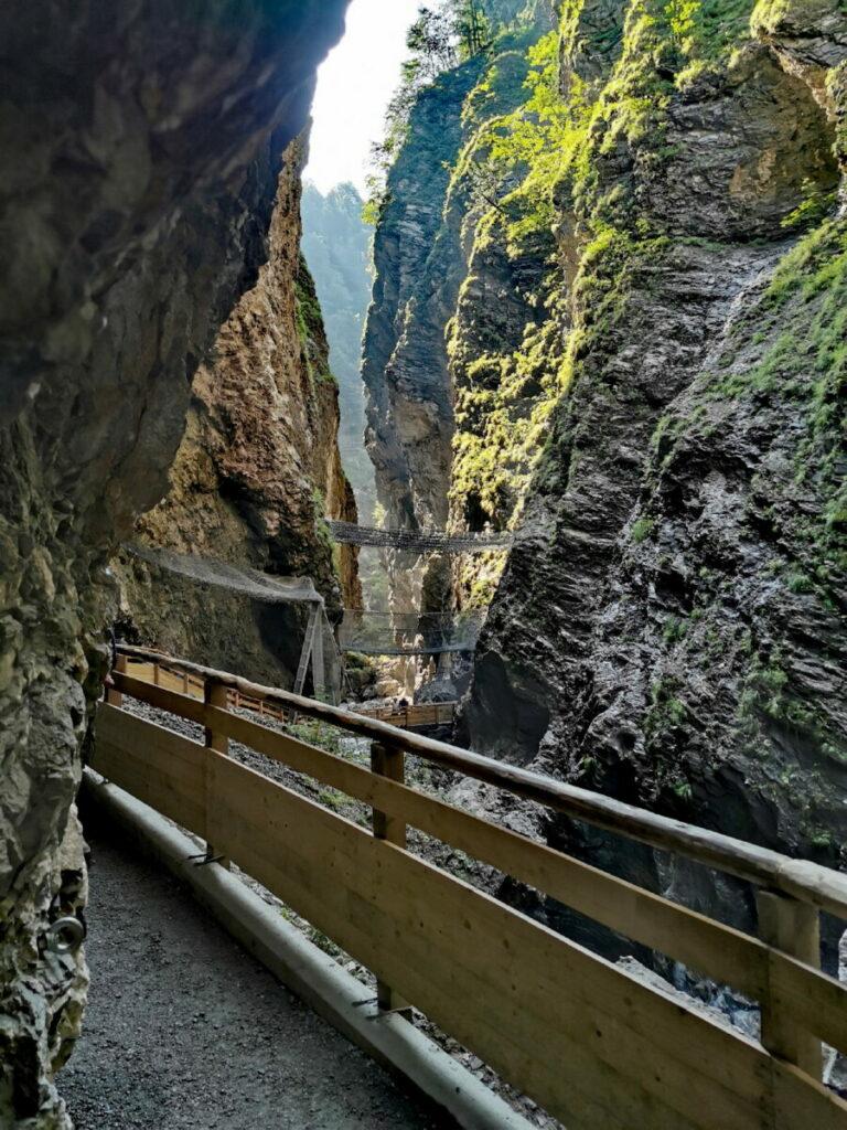 Liechtensteinklamm - bis zu 300 Meter tief aus dem Felsen gewaschen