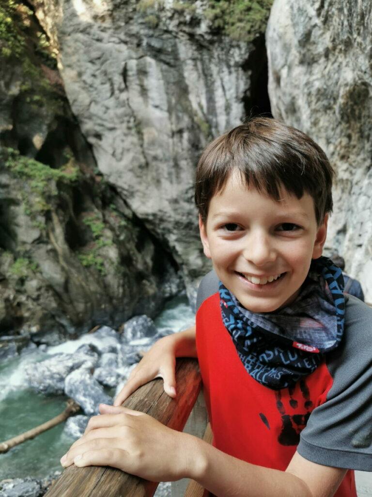Liechtensteinklamm mit Kindern wandern - geht sehr gut!