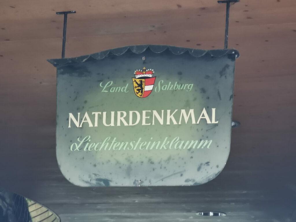 Die Liechtensteinklamm steht unter Schutz: Es ist ein Naturdenkmal