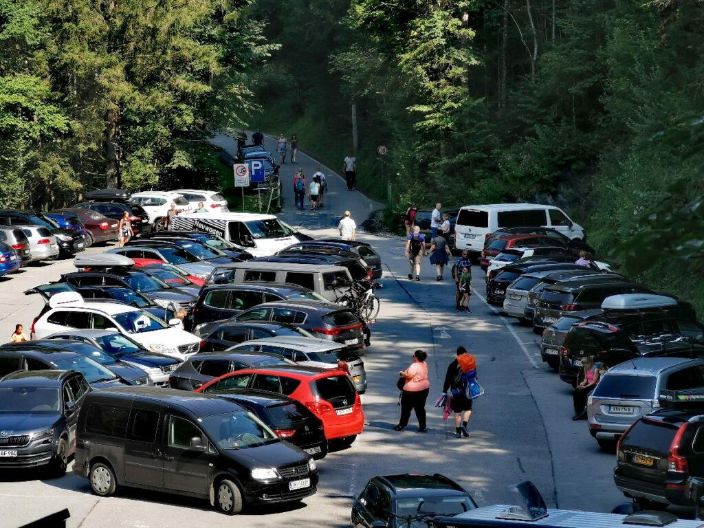 Das ist der beste Liechtensteinklamm Parkplatz - direkt am Eingang zur Klamm