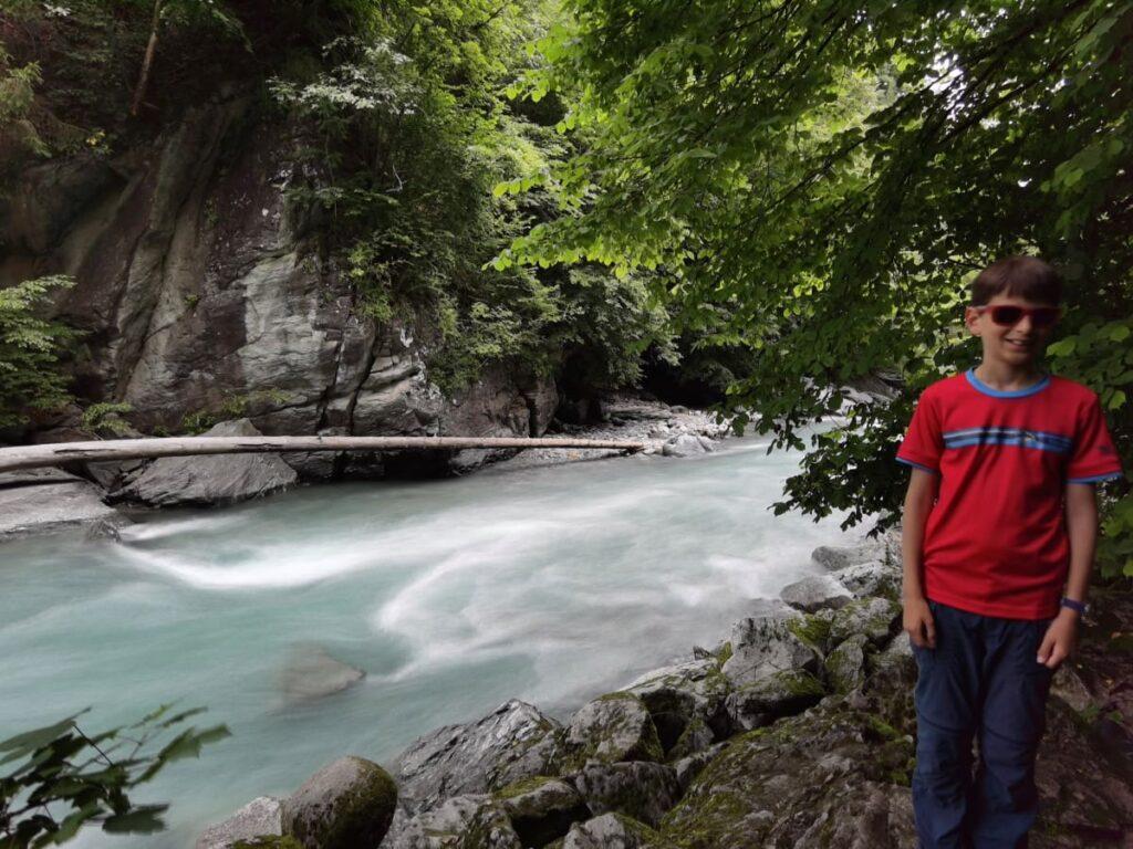 Türkisgrüne Klamm in Österreich - die Sillschlucht