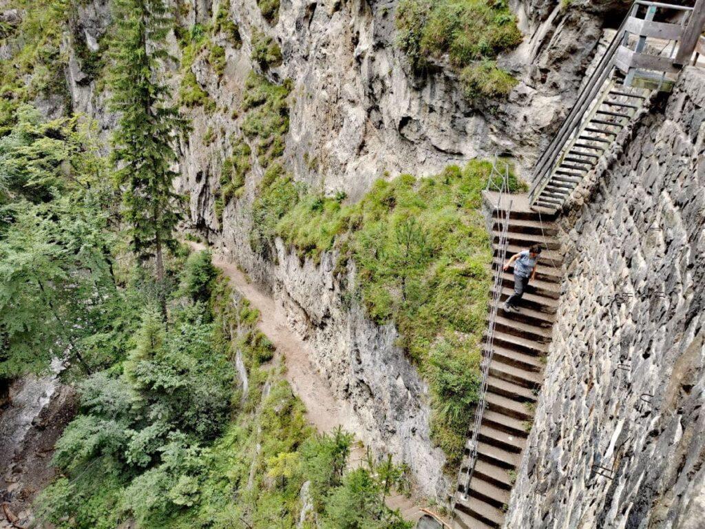 Kostenlose Klammen in Österreich - die Klamm mit der steilsten Treppe