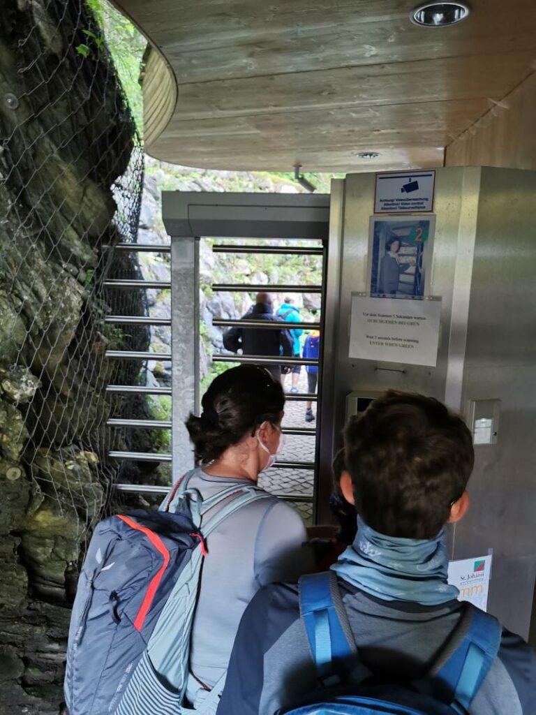 Das ist der Eingang in die Liechtensteinklamm