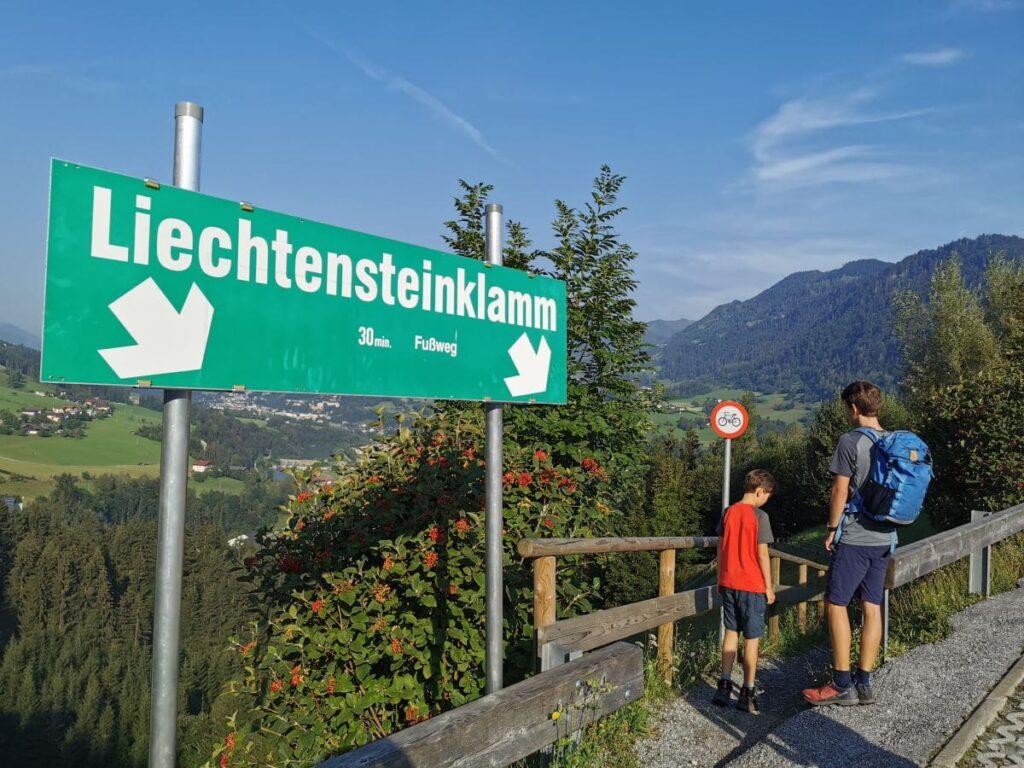 Liechtensteinklamm Wanderung - die komplette Beschreibung und viele Bilder